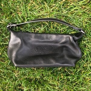 Black leather small  coach